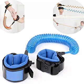 Upgraded Version Anti Lost Wrist Link With Lock Toddler Child Anti-lost Wrist Band Baby Safety Walking Harness Hand Belt Kids Safety Wrist Leash Skin Friendly for Travel Outdoor 1.5M (B)