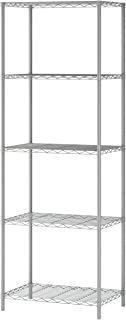 """Homebi 5-Tier Wire Shelving 5 Shelves Unit Metal Storage Rack Durable Organizer Perfect for Pantry Closet Kitchen Laundry Organization in Grey,21""""Wx14""""Dx61""""H"""