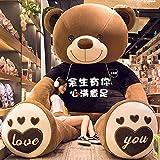 Haojie 140cm Osos Bear Bear Muñeca Teddy Panda Ragdoll Linda Chica Peluche Juguete Grande Oso de Gran tamaño Extra Grande,A,120cm