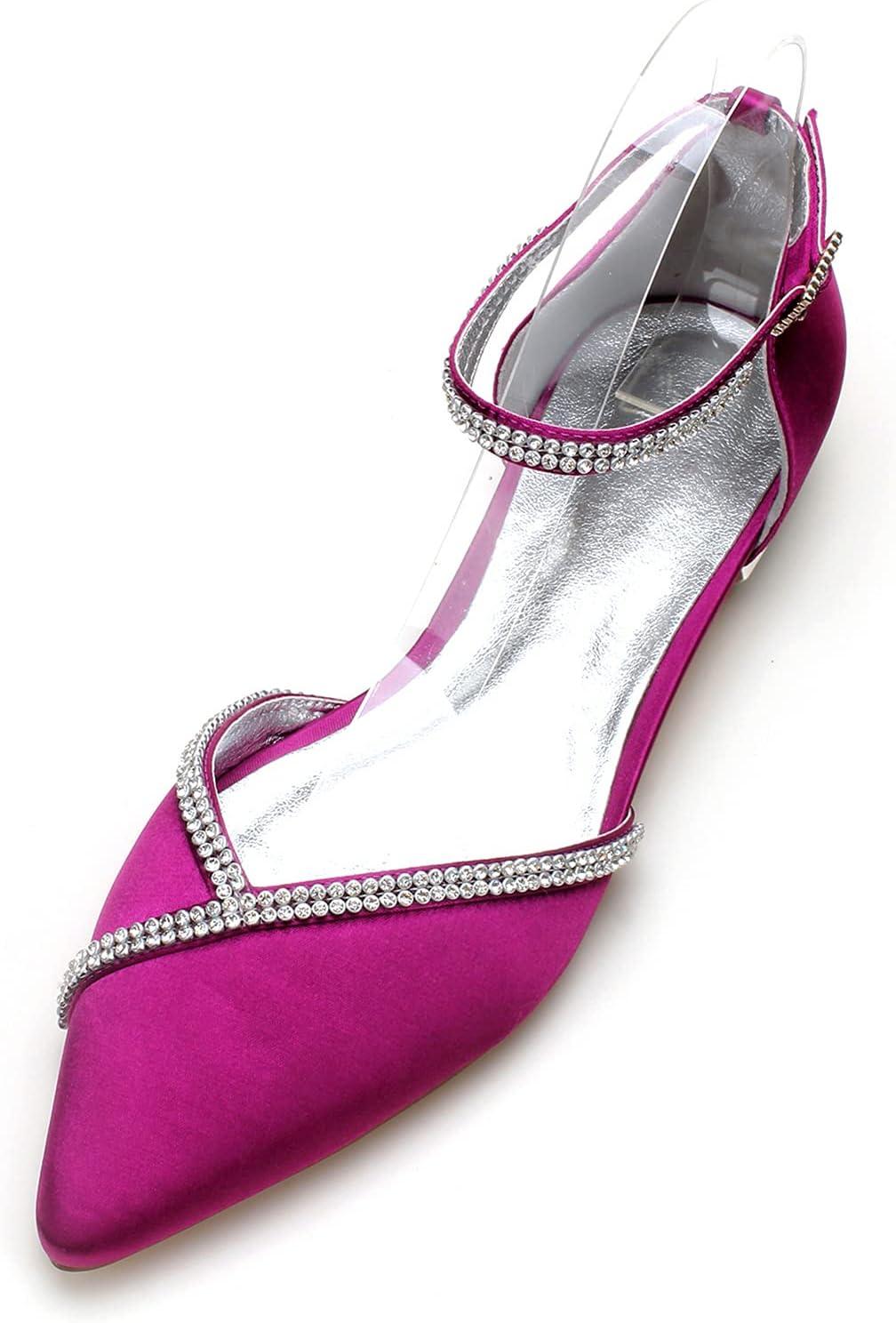 Cheap super special price MGEM Women's Ballet Flats price Rhinestone Strap Bridal Sh Satin Ankle