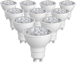 SUNTHIN 10 Pack Warm White 6.5W GU10 Led Bulb Dimmable 60w Equivalent Recessed Lighting GU10 LED Spotlight 500lm 38 Degrees Beam