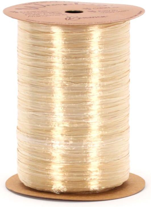 1//2W x 100 Yds Per Roll Burgundy Pearlized Raffia Pack of 2