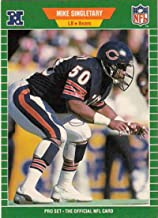 Best 1989 Pro Set Football #50 Mike Singletary Chicago Bears The Official Card of the NFL Review
