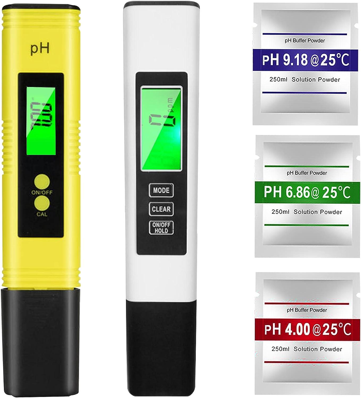 XINGGANG Medidor pH, TDS EC Temperatura 4 en 1 Digital Medidor de Prueba de Calidad del Agua, Medidor pH Piscina Pantalla LCD Retroiluminada para Piscina, para Agua Potable, Acuario, Piscina, SPA