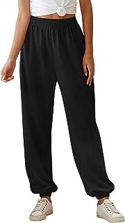 De feuilles Pantalon Femme D/écontract/é Taille Ajustable Pantalon de Loisirs Coton Lin Grande Taille Printemps Et/é