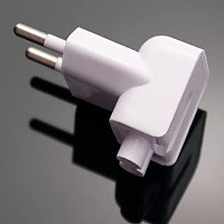 Indian Style/EU Plug Adapter Duck Head for Power Adapters of Apple MacBook,Powerbook, Pro, Air, iPod, iPhone, iPad, iBook
