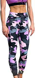 BOZEVON Women Leggings Yoga Pants - Camouflage Fitness Sports Exercise Skinny Pants