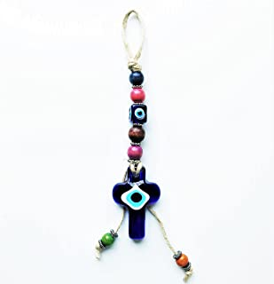 Evil Eye –HOLY Cross - Good Luck Charm/Talisman/Amulet Ornament for Protection, Prosperity, Wealth, Blessing, Attract Fina...