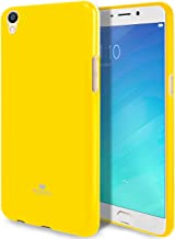 GOOSPERY Marlang Marlang Oppo R9 Plus Case - Yellow, Free Screen Protector [Slim Fit] TPU Case [Flexible] Pearl Jelly [Protection] Bumper Cover for Oppo R9 Plus, OPPOR9P-JEL/SP-YEL