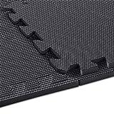 "arteesol Exercise Mats - 18 Tiles Protective Flooring Each 12"" x 12"", Premium Gym Mats EVA Interlocking Foam Tiles Puzzle Workout Mats for Fitness Equipment Gym Equipment (Black-moon)"