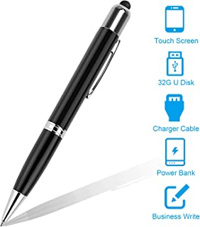 eBerry Digital Multi Function Pens For Ballpoint Pens, Touch Screen Pen, Power bank, 32GB USB Flash Drives and USB Charger Cable