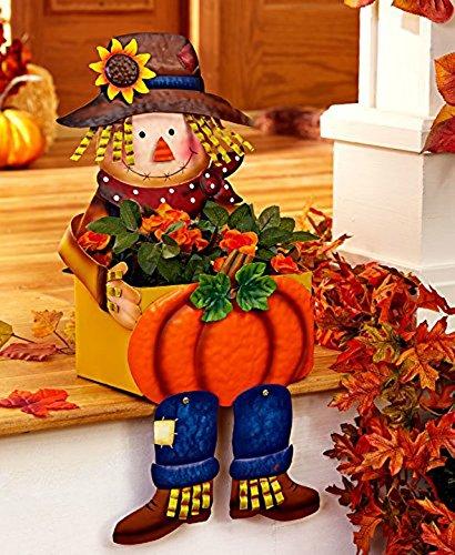 Scarecrow Porch Sitter Planters