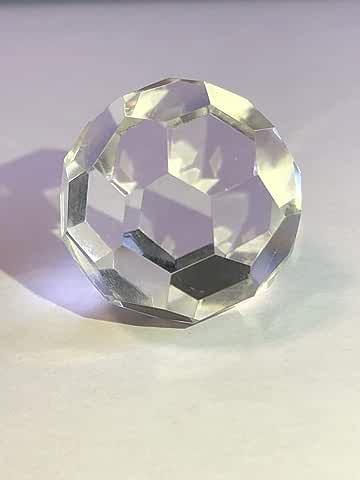 バッキーボール 水晶 Buckyball Crystal カタカムナ 賢者の石 32面カット 25mm 天然石 総合運 風水アイテム 水晶 パワーストーン [並行輸入品]