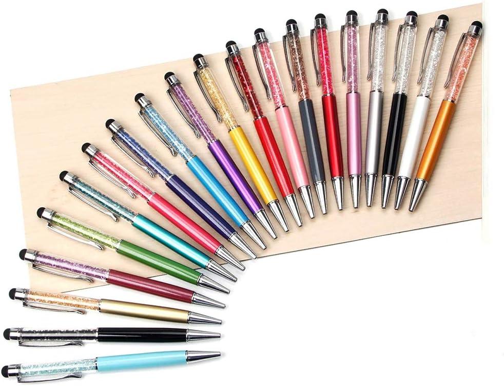 20 stylos /à encre rouge Note iPhone iPad HOSTK Lot de 20 stylets /à bille 2 en 1 avec strass r/étractables pour /écran tactile et stylet capacitif pour smartphones Kindle Tab