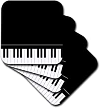 3dRose CST_112947_1 Black Piano Edge-Baby Grand Keyboard Mus