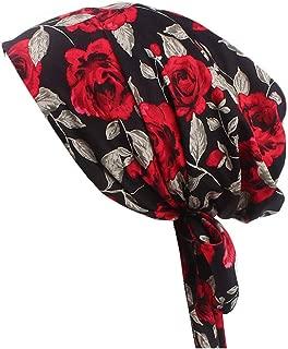 Vintage Women Cotton Scarf Chemo Cap Bowknot Turban Hair Loss Hat