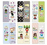 Creanoso Little Readers Bookmarks for Girls (12-Pack) - Stocking Stuffers Premium Quality Gift Ideas for Children, Teens, Adults - Corporate Giveaways & Party Favors