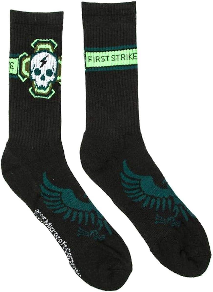 Halo 5 First Strike Men's Crew Socks, Black, Size: 10-13