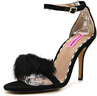 Womens Harpur Open Toe Special Occasion Ankle Strap Sandals, Black, Size 8.5