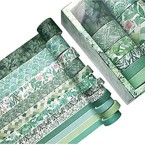 Chingde DIY Papier Tape, 12 Rollen Deko Klebeband Scrapbook Tape Klebeband Basteln Washi Tape Set für Scrapbooking DIY Handwerk, Bastler, verschönert Journals