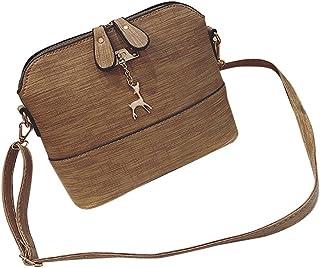 Btruely Handtasche Damen Btruely Mädchen Messenger Crossbody Vintage Tasche Damen Kleines Shell Leder Handtasche Khaki