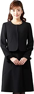 [B-GALLERY] ブラックフォーマル アンサンブル《ブラック 5号~15号》ジャケット & ワンピース デオドラント レディーススーツ 2点セット