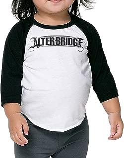 Alter Bridge Logo Toddler Unisex 3/4 Sleeve Baseball Tee