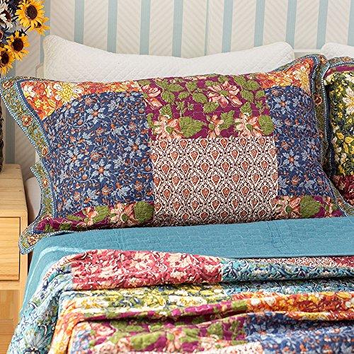 Qucover Patchwork Tagesdecke für 150 Bett, Camo...