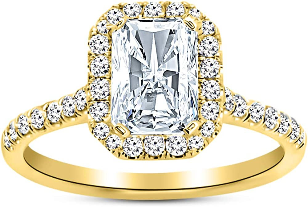 2 Ctw 14K Austin Mall White Gold Single Radiant GIA C Today's only Certified Halo Classic