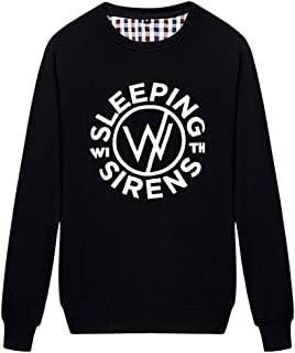 JUDE BOYLE Sleeping with Sirens Sweatshirts for Men Hoodies White