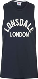 Lonsdale Mens Muscle Vest Tank Top Crew Neck Lightweight