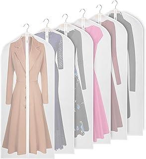 KEEGH Garder Housses de vêtements, Sac de Rangement, Protection Anti-Mites, Pliable, Lavable, léger, pour Robe Longue, Cos...