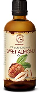 Sweet Almond Oil 3.4oz - Prunus Amygdalus Dulcis Oil - Italy - Glass Bottle - Best Care Oil for Skin - Hair - Body - Personal Care