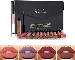 Rechoo 12 Pcs Barra de Labios Mate/Superstay Matte