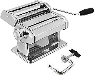 Máquina De Prensado Máquina Manual For Hacer Pasta De Acero Inoxidable con Ajustes De Grosor Ajustable Perfecto For Espagueti Casero Profesional Incluye Mango Extraíble Y Abrazadera