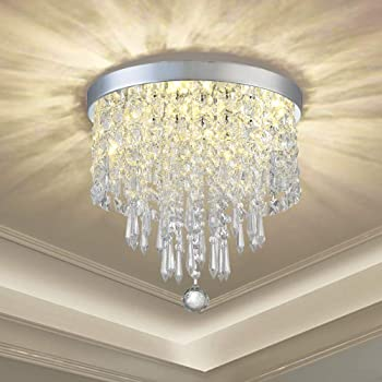Moonlight and Rust Diamond Crystal Round Chandelier, Two tier