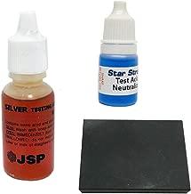 JSP Silver 925 Jewelry Test Acid Solution Scratch Testing Stone and Neutralizer