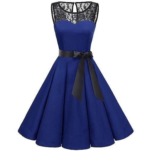 Royal Blue Black Dress