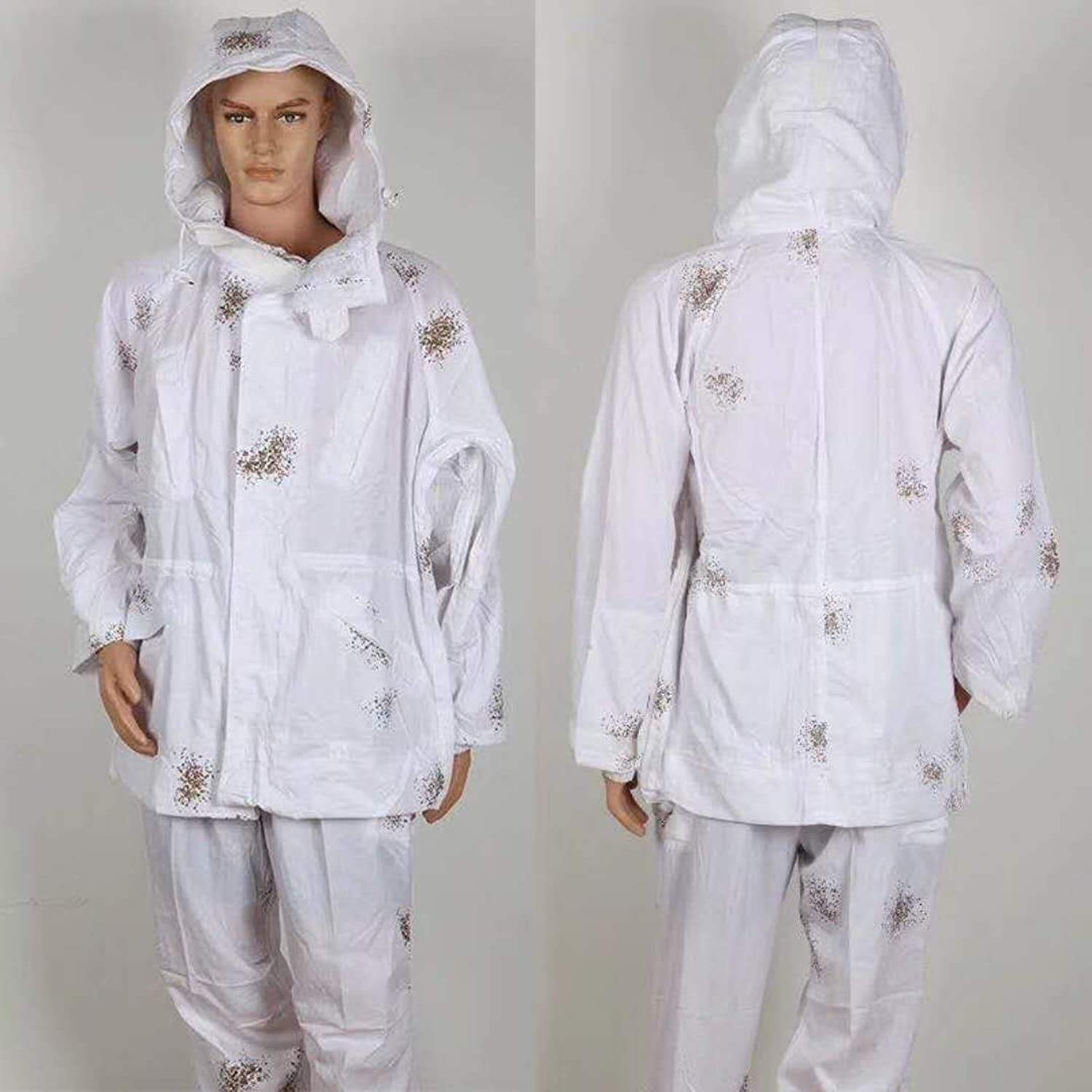 Snow White color Camouflage Suit for Hunting, Blinding
