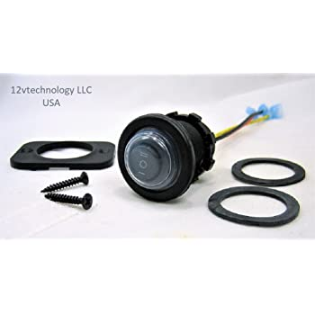 Double Sealed Waterproof Marine Quality Waterproof Rocker 12V Toggle Switch DPST Twin ON//OFF Round