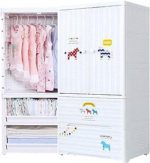 Xu Yuan Jia-Shop Armoire de Rangement Armoire de Rangement en Plastique Simple, Armoire à vêtements à Suspendre, Design su...