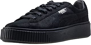 PUMA Womens Basket Platform Reset Trainers Sneakers in Black.