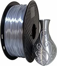 Silk Silver PLA 1.75mm 3D Printer Filament 1KG (2.2LBS) Printing Materials Silky Shiny PLA Metal Silver Like CC3D