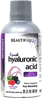 Bluebonnet Nutrition Liquid Hyaluronic Acid, Best for Hair, Skin, Nails, Vegan, Vegetarian, Non GMO, Gluten Free, Soy Free...
