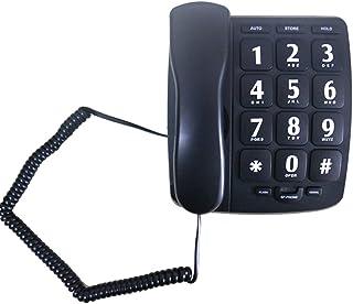 Large Button Phone for Seniors, JeKaVis JKV-558 Landline Phone for Elderly with Amplified Speakerphone/Speed Dial/Wall Mountable