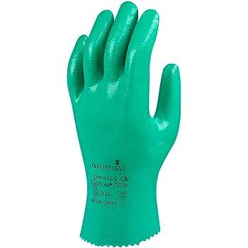 azul Guantes de nitrilo largos para preparaci/ón de alimentos limpieza y usos mec/ánicos 12 pares guantes de trabajo reutilizables grandes talla 11 Ansell AlphaTec 37-310