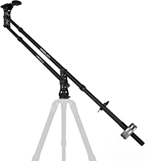 KINGJOY 82.7 inches Aluminum Camera Jib Arm Crane Tilt with 1/4 and 3/8-inch Quick Shoe Plate, 360 Degree Pan Ball Head, Counter Weight for DSLR Video Cameras, Load up to 17.6 lbs, VM-301A