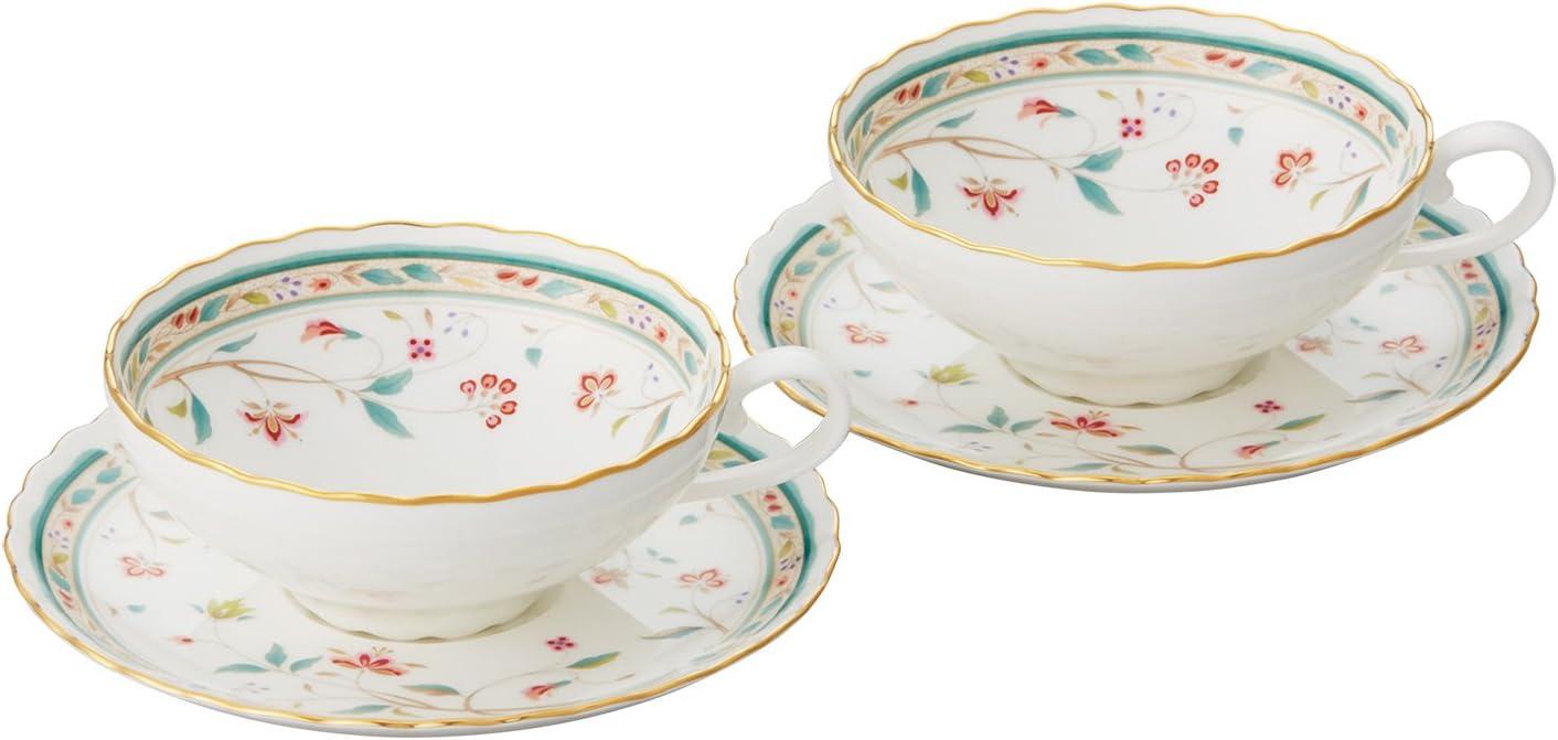 Bone china flower San 5 popular Francisco Mall calico tea bowl set dish P58043A ja 4409 pair