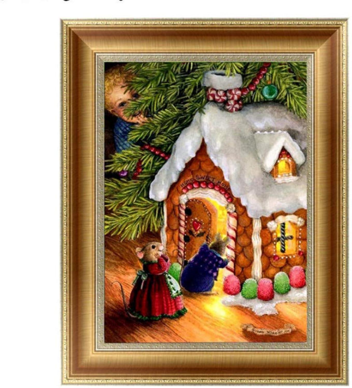 artículos novedosos XIGZI XIGZI XIGZI 5D Diamante Pintura Ratón árbol DIY Pintura Punto de Cruz Bordado Decoración para el Hogar Mosaico Conjunto Sin Marco  bienvenido a orden
