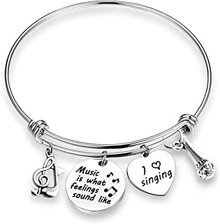Music Lover Bracelet Music is What Feelings Sound Like Music Lover Gifts Musical Jewelry Singing Bracelet Singer Charm Jewelry
